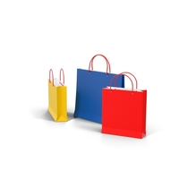 3 Color Shopping Bags PNG & PSD Images