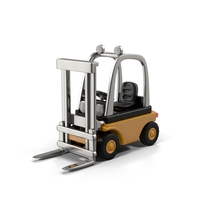 Yellow Forklift Object