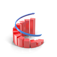 Spiral Growing Red Graph PNG & PSD Images