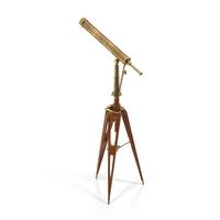 RH Brass Telescope PNG & PSD Images