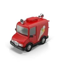 Cartoon Ice Cream Truck Object
