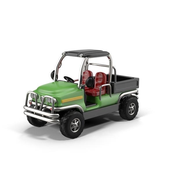 Cartoon Pickup Truck Object