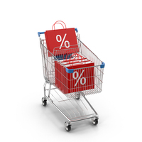 Shopping Cart and Sale Bags PNG & PSD Images