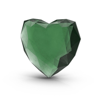 Emerald Heart PNG & PSD Images
