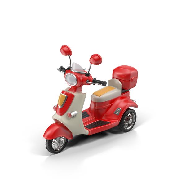 Cartoon Motor Scooter PNG & PSD Images