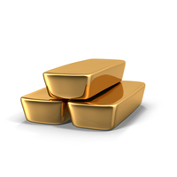 Three Gold Bars PNG & PSD Images