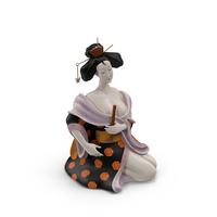 Geisha Statue PNG & PSD Images