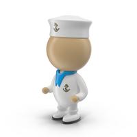 Cartoon Sailor Character PNG & PSD Images
