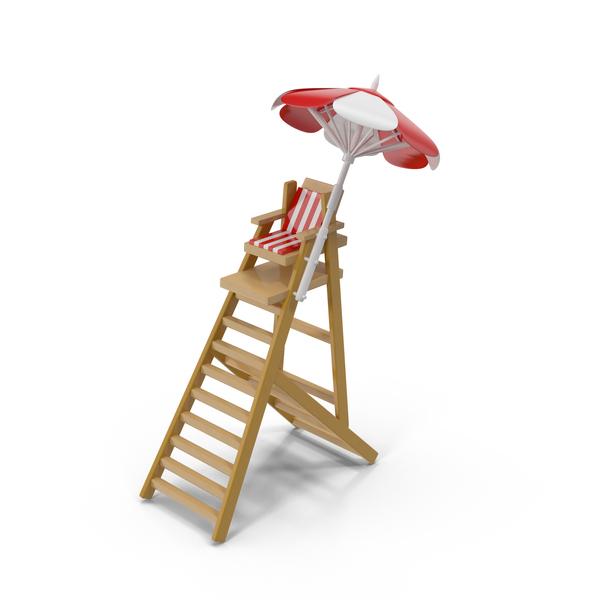 Cartoon Lifeguard Tower PNG & PSD Images