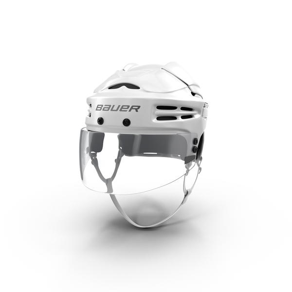 Bauer White Hockey Helmet Object