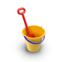 Toy Shovel and Bucket PNG & PSD Images