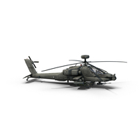 AH64D Apache Attack Helicopter PNG & PSD Images