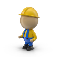 Cartoon Engineer Character PNG & PSD Images