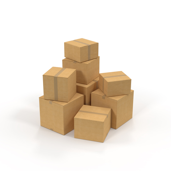 Cardboard Box Pile PNG & PSD Images
