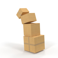 Falling Cardboard Box Stack PNG & PSD Images