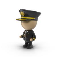 Cartoon Pilot Character PNG & PSD Images
