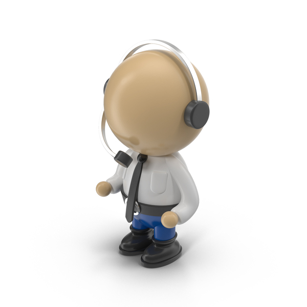 Cartoon Operator Character PNG & PSD Images