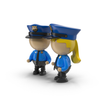 Cartoon Police Officer Characters PNG & PSD Images