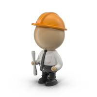 Cartoon Male Engineer PNG & PSD Images