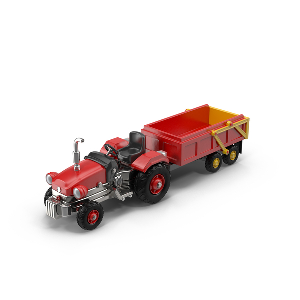 Tractor with a Trolley PNG & PSD Images