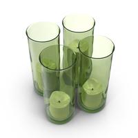 Green Candlestick Holder PNG & PSD Images