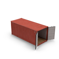 Shipping Container with Open Doors PNG & PSD Images