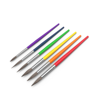 Multi-Colored Paint Brushes PNG & PSD Images