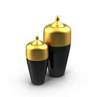 Black and Gold Vases PNG & PSD Images