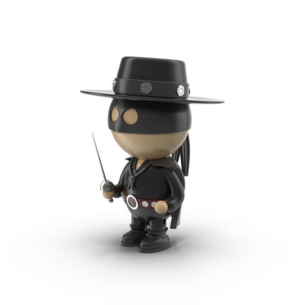 Cartoon Zorro Character PNG & PSD Images