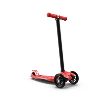 Kids Three Wheeled Scooter PNG & PSD Images
