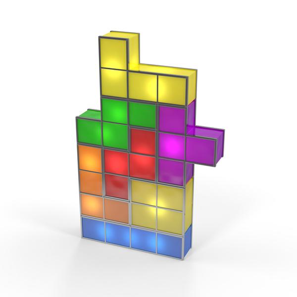 Tetris Lamp PNG & PSD Images