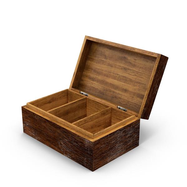 Distressed Wood Box Object