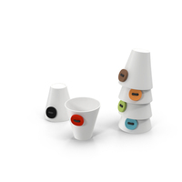 Cups with Buttons PNG & PSD Images