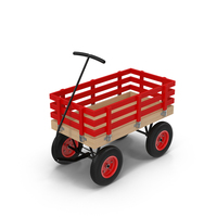 Red Toy Wagon Object