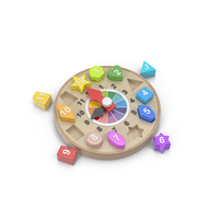 Clock Toy Puzzle Object