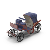 Antique Horse Carriage Object