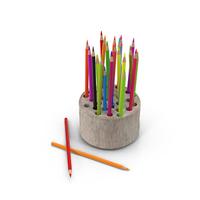 Wood Stump Pencil Holder PNG & PSD Images