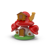 Cartoon Mushroom House Object