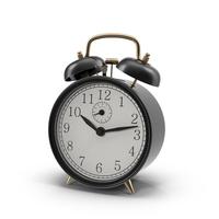 Vintage Black Alarm Clock PNG & PSD Images