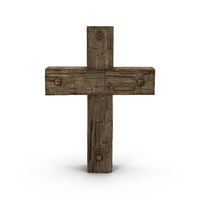 Wooden Cross Weathered PNG & PSD Images