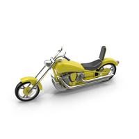 Chopper Motorcycle Object