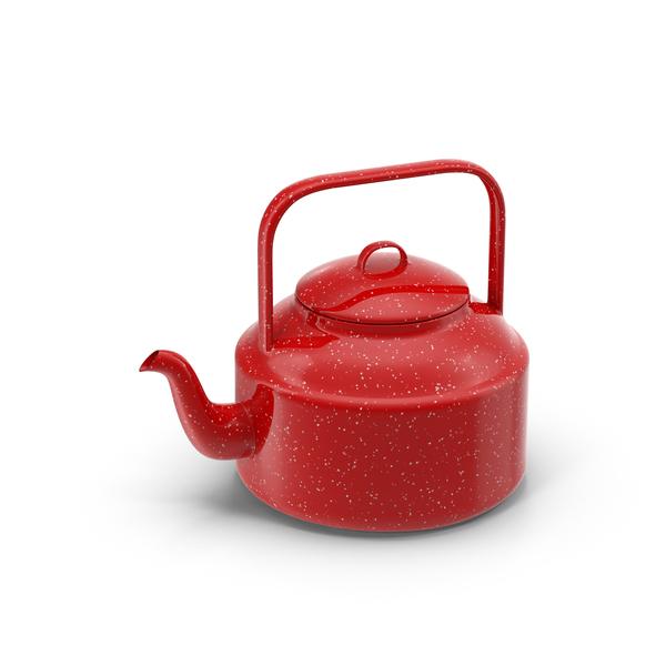 Red Tea Kettle Object