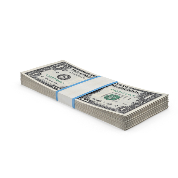 1 Dollar Bill Bundle PNG & PSD Images