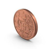 French Euro 2 Cent Coin PNG & PSD Images