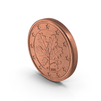 Euro 2 Cent Coin PNG & PSD Images