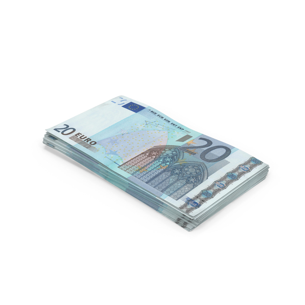 20 Euro Bill Stack PNG & PSD Images