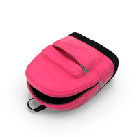 Opened Kids Backpack PNG & PSD Images