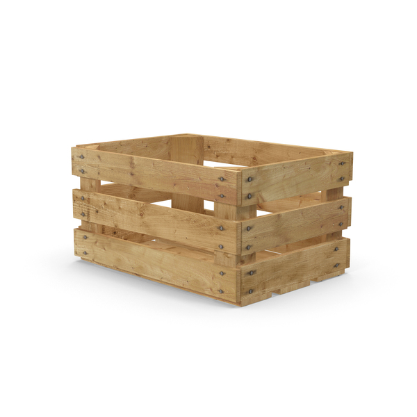 Wooden Fruit Crate PNG & PSD Images