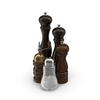 Salt and Pepper Mills PNG & PSD Images