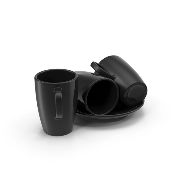 Coffee Cups and Saucer PNG & PSD Images